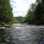 Der Gumpenrieder Schwall bei Normalwasserstand