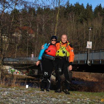 Nach dem Anpaddeln 2018 am Ziel in Teisnach