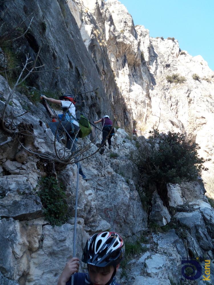 Der Klettersteig am Colodri ist auch für Kinder geeignet.