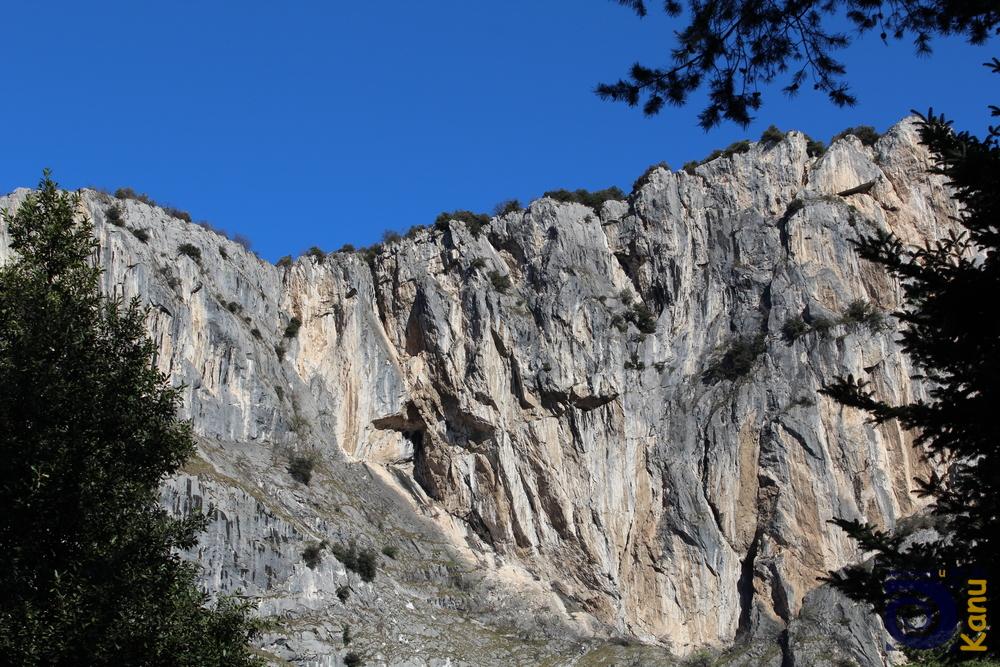 Der Klettersteig von unten.
