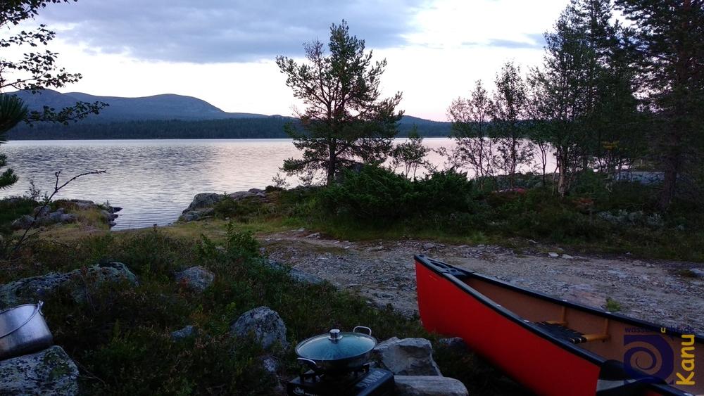 Übernachtung am Fjellgutusjøen, Norwegen.
