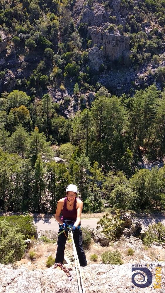 Klettern im Restonicatal