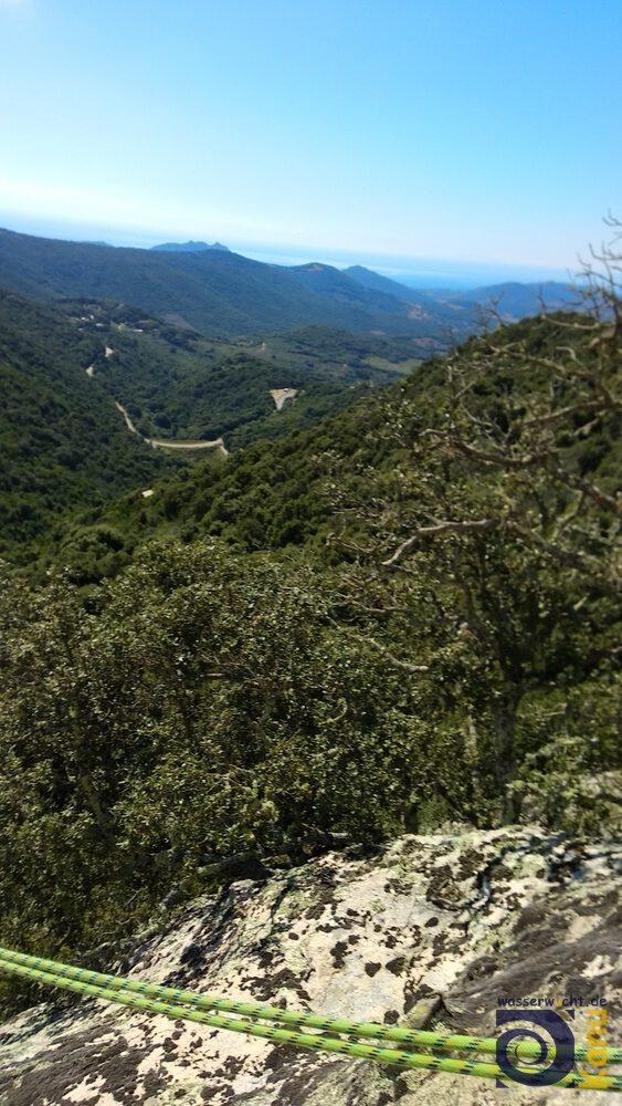 Aussicht von einem Kletterblock