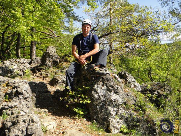 Auf dem Noris-Klettersteig auf der Frankenalb