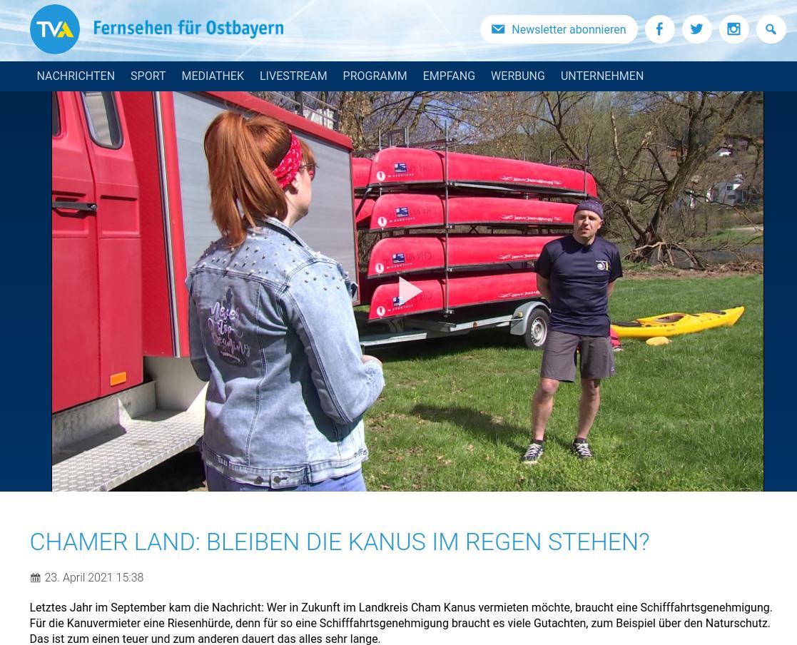 Beitrag bei TVA, Fernsehen für Ostbayern